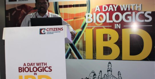 Dr Kiran Peddi-Consultant Medical Gastroenterologist-Citizens Hospitals Talking in the conference