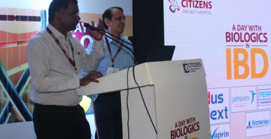 Dr Kiran Peddi -Medical Gasteroenterologist & Dr Suresh Chandra Hari-Surgical Gastroenterology Speaking at the conference