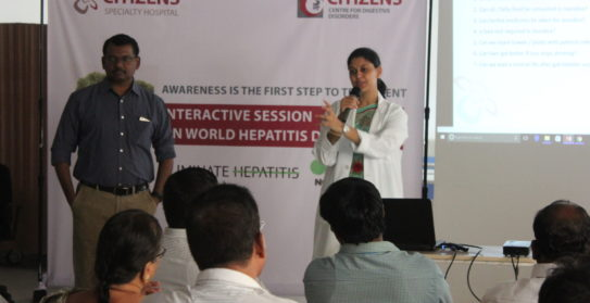Dr Sarada Pasangulapti Dr Kiran Peddi Talking in Hepatitis Awareness Session 2