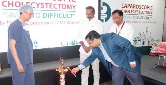 Nilesh Gupta ,Zonal Director American Oncology Institute lighting the lamp